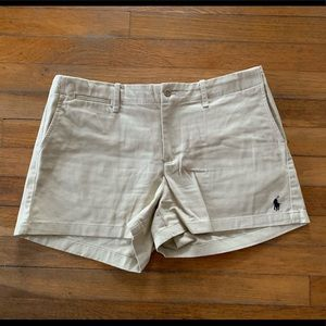 Ralph Lauren Polo cream shorts size 10 -Worn once